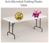 Antimocrobial Plastic Folding Table