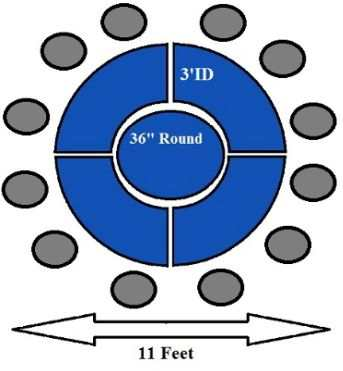 How to make a round banquet table for more than 10 people for 10 person round table dimensions