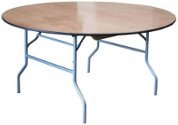 60 Inch Round Plywood Table