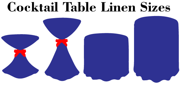 cocktail table linen sizes