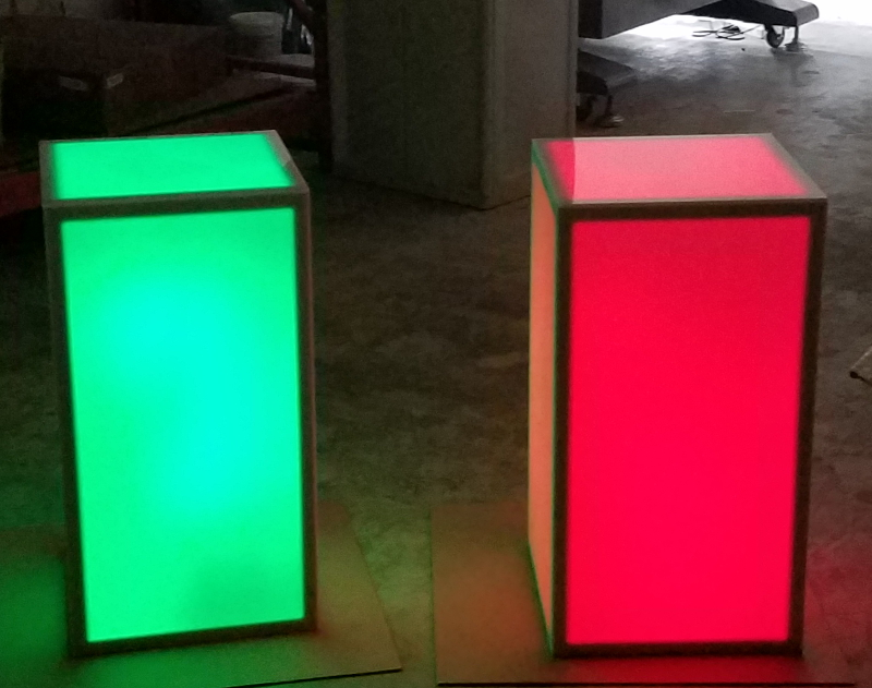 15 x 15 x 30 LED Column Red and Green Double