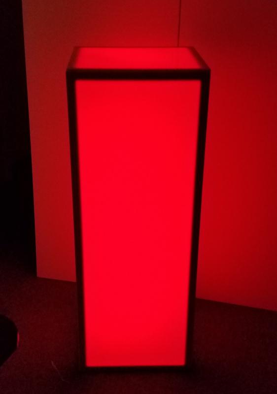 15 X 15 X 42 Inch Height Led Light Up Column Bar Table