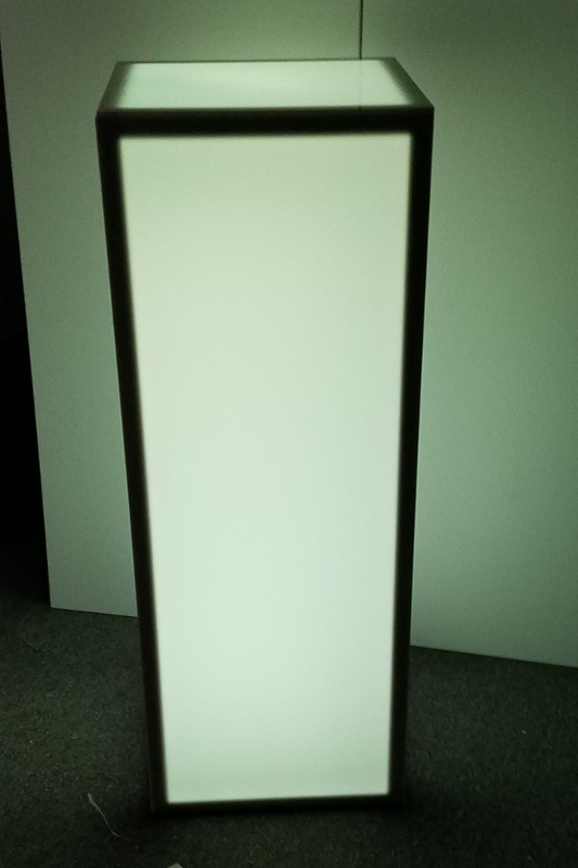 15 X 15 X 42 Inch Height Led Light Up Column Bar Table