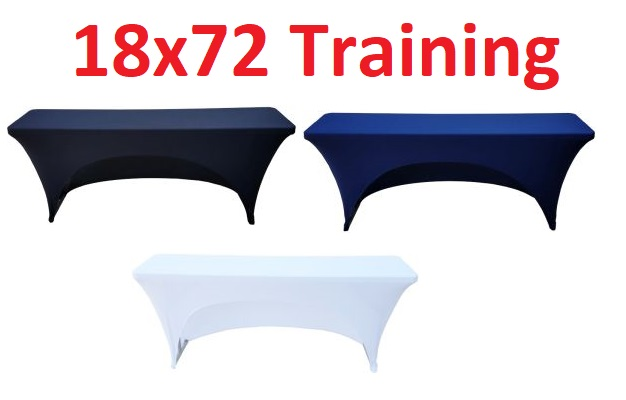 18x72 6 Foot Fitted Spandex Training Table Cover