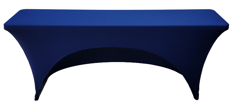 18x72 6 Foot Navy Blue Fitted Spandex Training Table Cover