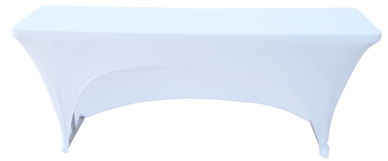 18x72 6 Foot White Fitted Spandex Training Table Cover