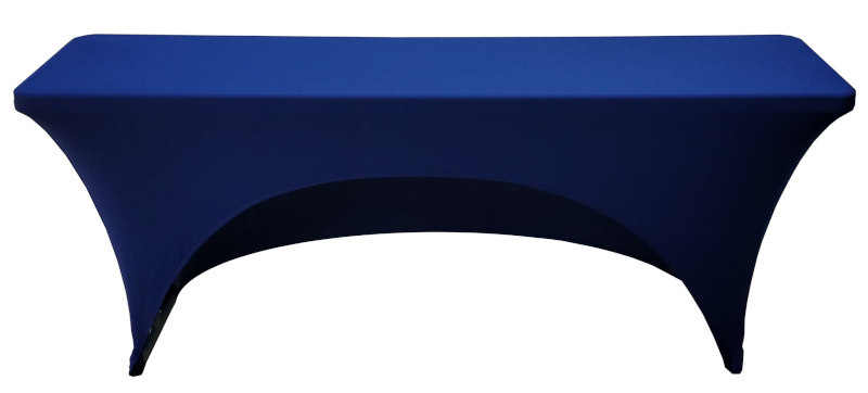 18x96 8 Foot Navy Blue Fitted Spandex Training Table Cover