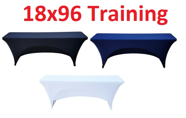 18x96 8 Foot Fitted Spandex Training Table Cover