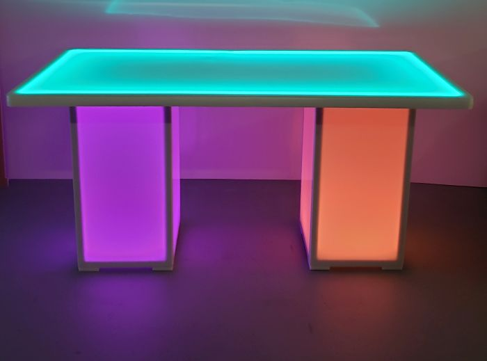 30 x 60 LED Glowing Banquet Table w/ Removable Column Bases