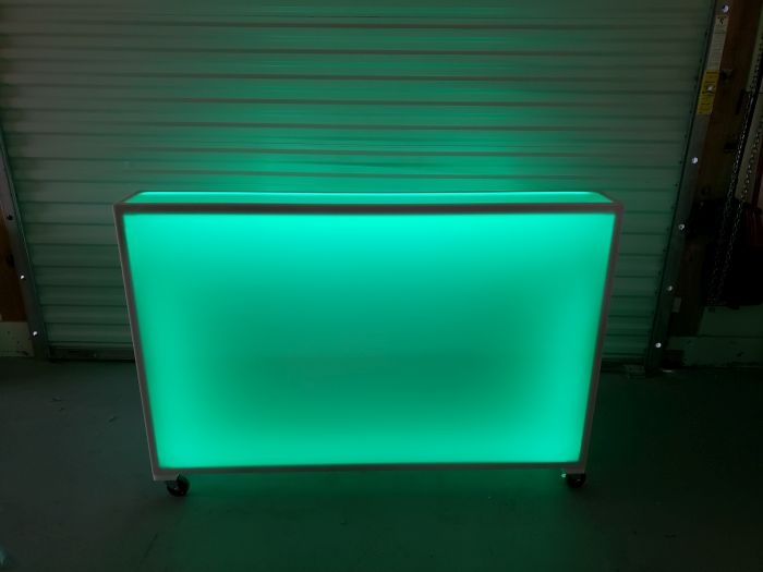 6 Foot Long Portable Folding LED Light Up Event Bar
