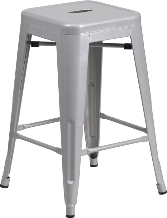 Wondrous Retro Metal Backless 24 Inch Counter Height Patio Bar Stool Uwap Interior Chair Design Uwaporg