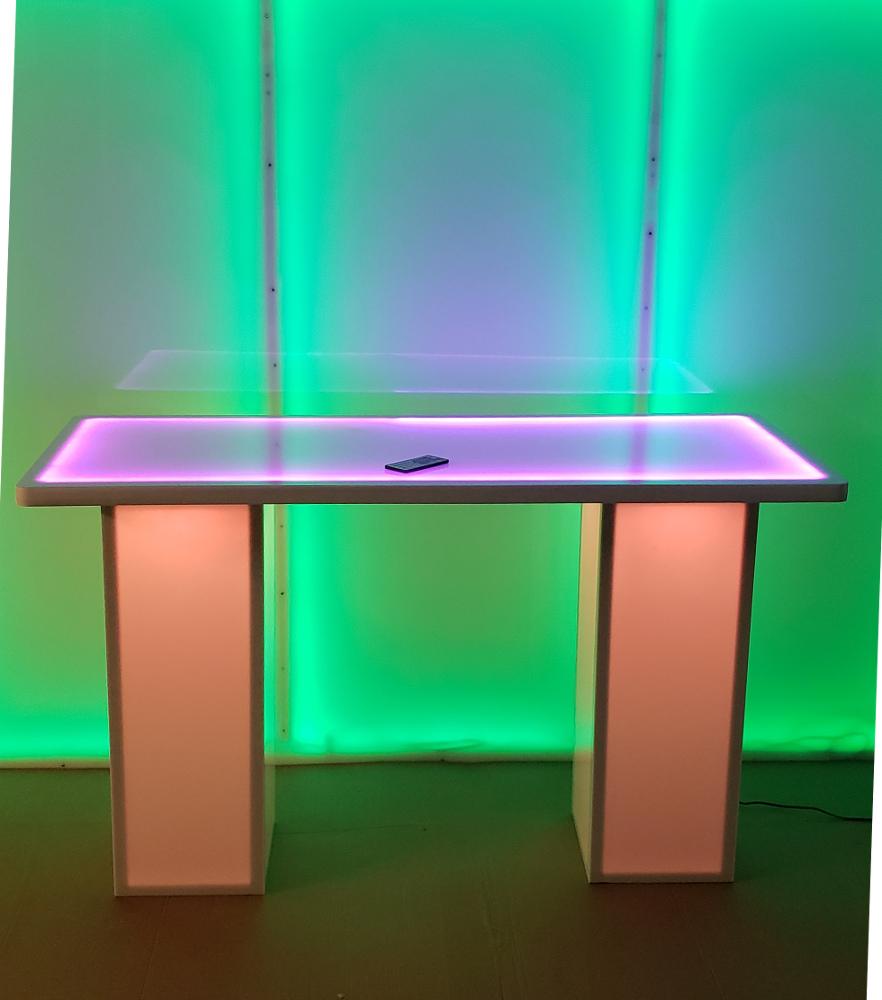 24 X 60 X 36 Height Light Up Led Glow Trade Show Display Table