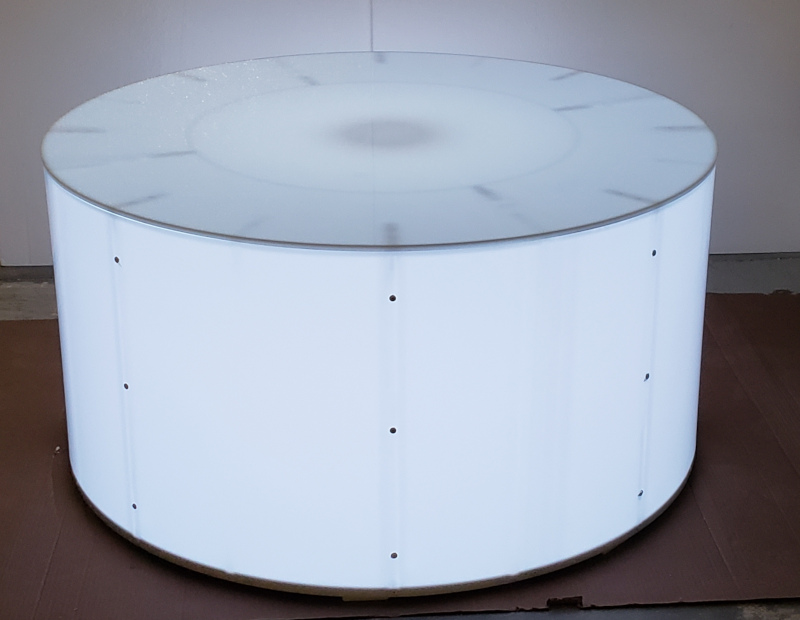 48 Inch Round Cylinder Display WHITE