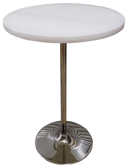 Round Light Up Glow Top Led Portable Highboy Table