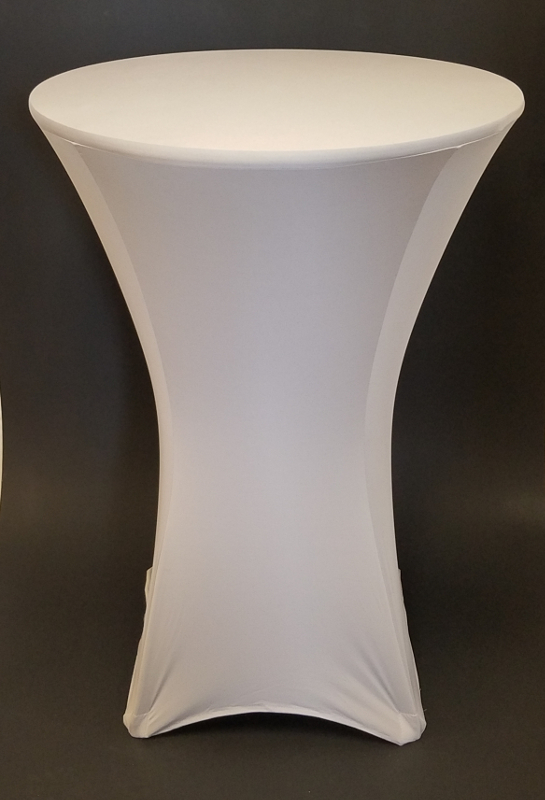 Silver 30 Inch Round Spandex Highboy Table Cover
