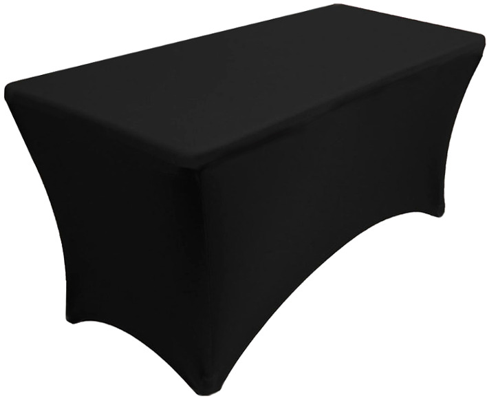 30x48 4 Foot Black Spandex Table Cover