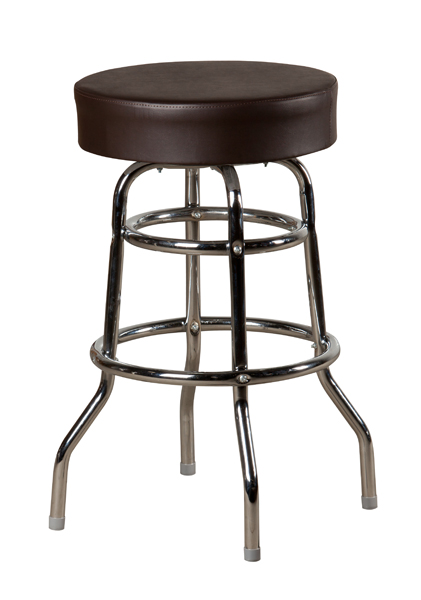 Large Seat Swivel Button Top Double Chrome Ring Frame
