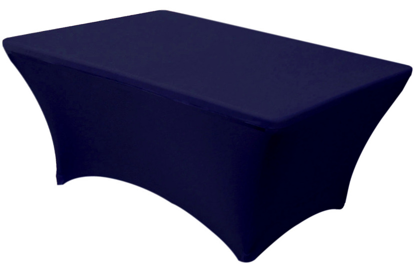 30x48 4 Foot Navy Blue Fitted Spandex Table Cover