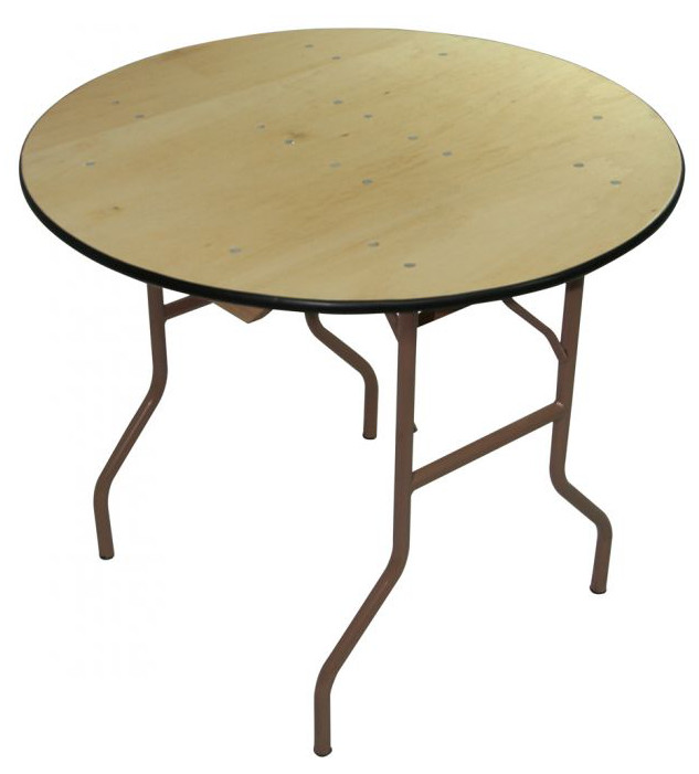 48 Inch Round Plywood Folding Table
