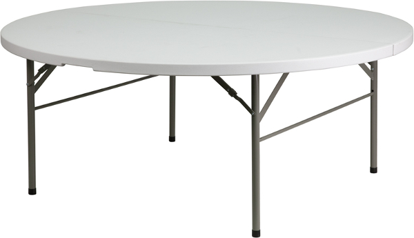 72 Inch Round Fold In Half Plastic Table