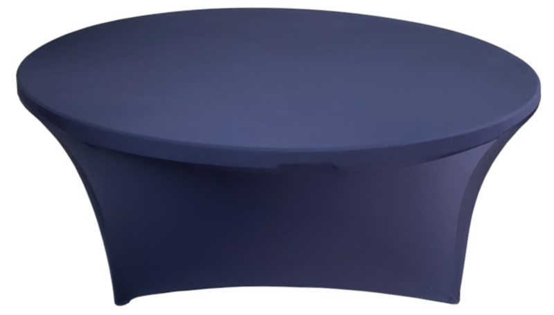 Navy Blue 72 Inch (6 Ft Round) Stretch Spandex Table Cover