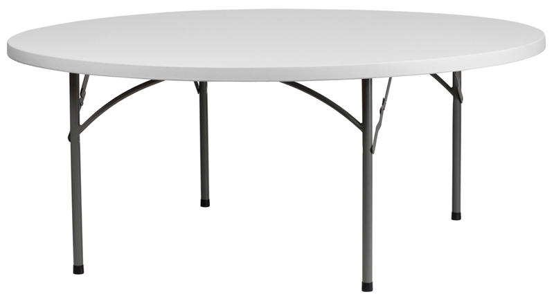 72 Inch Round Plastic Folding Table