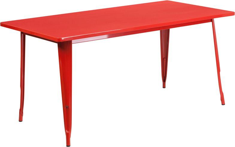 32 X 63 Rectangular Outdoor Retro Industrial Metal Table