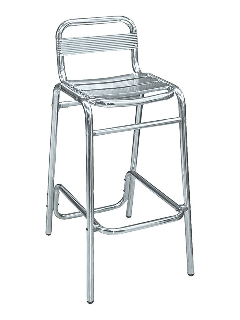 Armless Aluminum Bar Stool