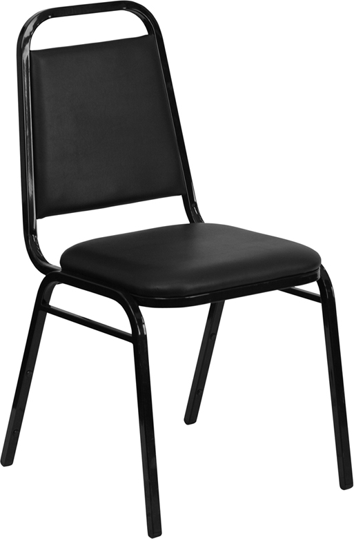Black Vinyl Economy Stack Chair
