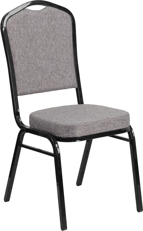 Gray Fabric and Black Frame Chair