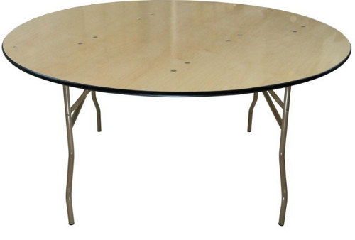 Blonde Plywood Round Table