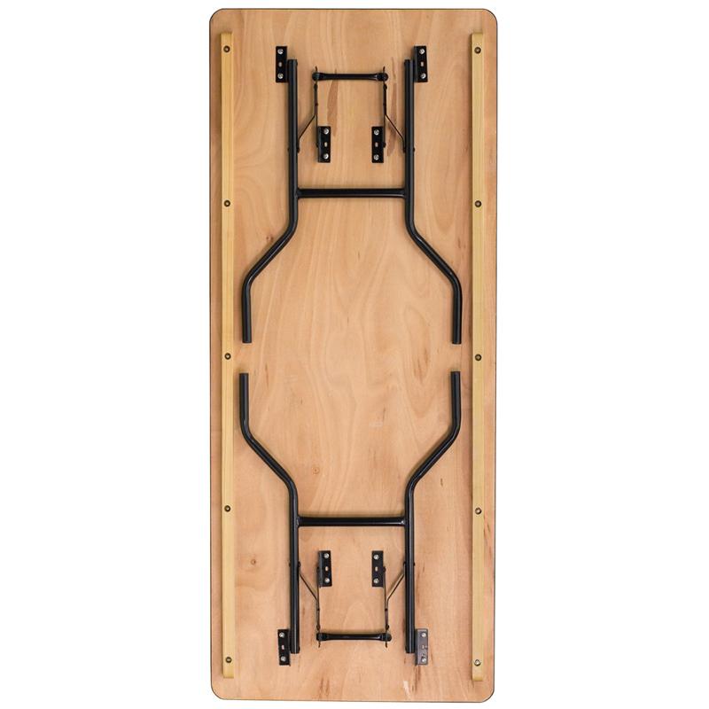 6 Foot 30x72 Plywood Folding Table Btp3072 Wood
