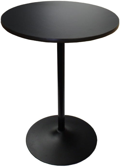 Round Banquet Highboy Table W Black Base