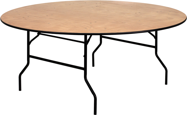 72 Round Plywood Banquet Table