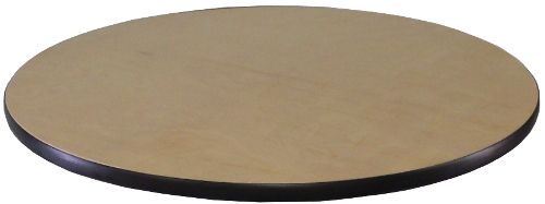30 Inch Round Birch Plywood Table Top Only With Black Pvc Edge