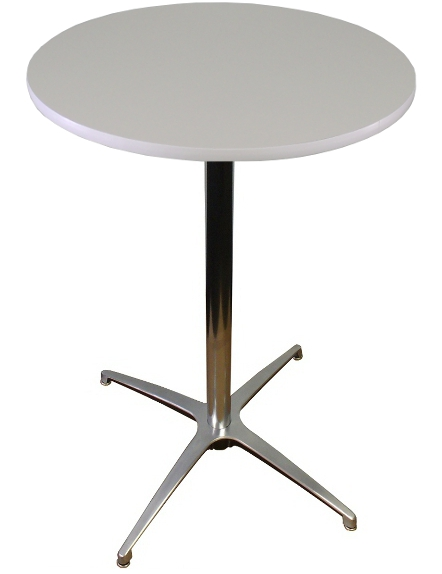 White top round banquet cocktail table for Cocktail tables
