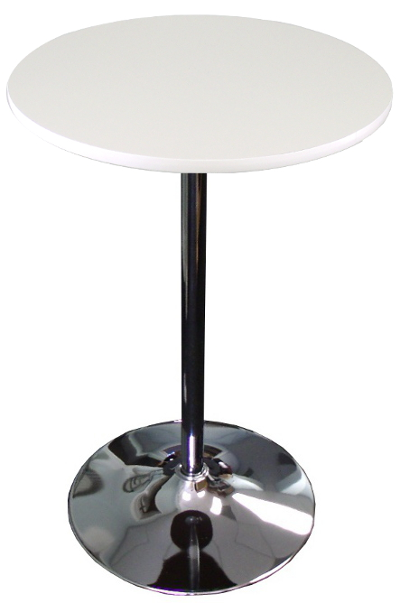 White Top Round Banquet Cocktail Table