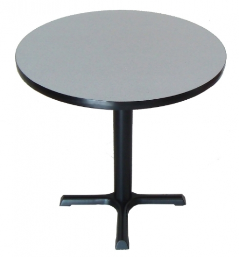 36 Inch Diameter Round Cafe Table W 30 Inch Black Base