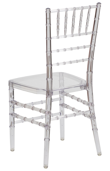 4 Pack Crystal Clear Chairs Ice Resin Chiavari Chairs