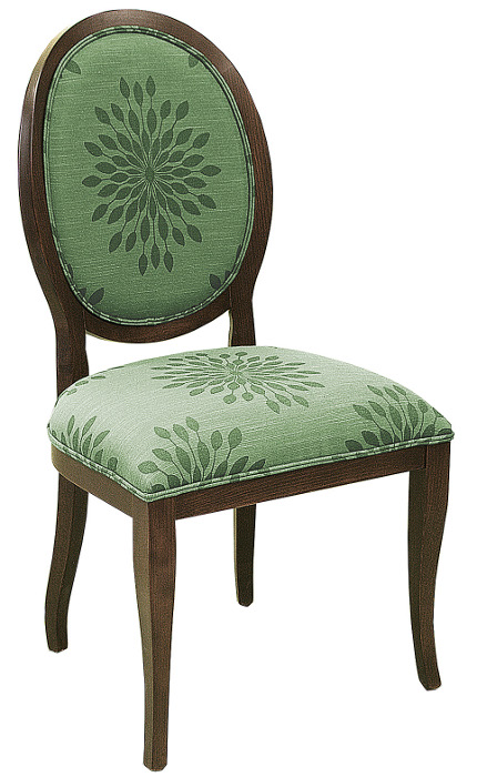 Fine Dining Series Wood Restaurant Chair W Queen Anne