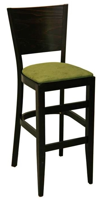 Contemporary Series Solid Back Wood Bar Stool W