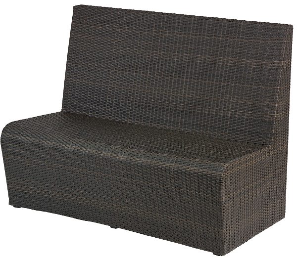 Commercial Outdoor Wicker 4 Foot Restaurant Booth Seat