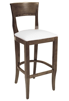 Biedermeier Wood Restaurant Bar Stool