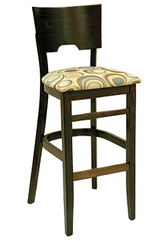 Restaurant Dining Bar Stool w/ Square Wood Back