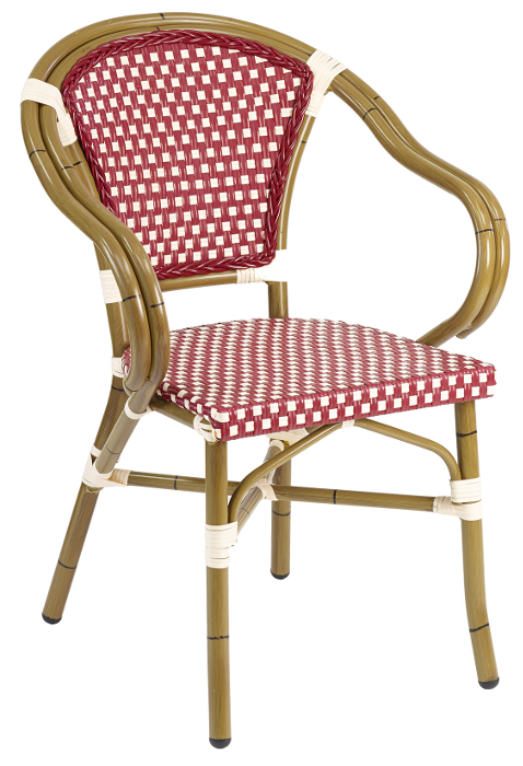 Rattan Outdoor French Bistro Arm Chair. Arm Chair Rattan. Rattan Colors