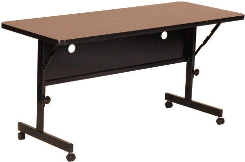 Laminate Rectangular Flip Top Adjustable Height Table W