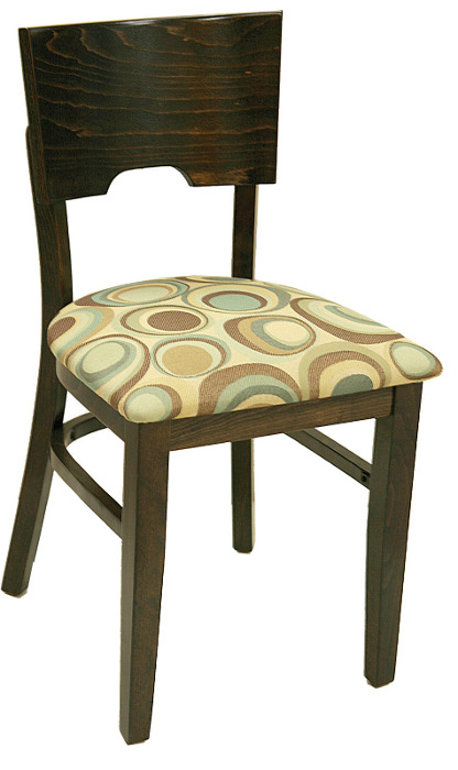 Classic Wood Restaurant Dining Chair w/ Square Wood Back