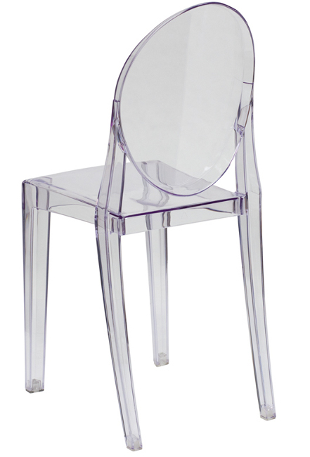 Armless Clear Stacking Ghost Chair
