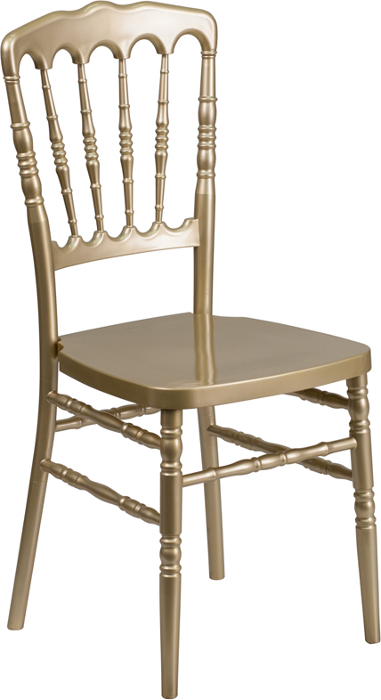 Resin Stacking Napoleon Banquet Chairs