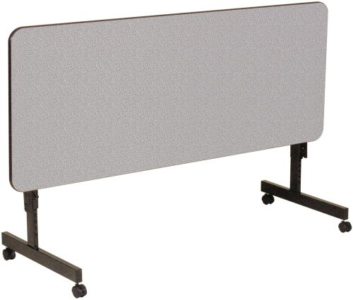 Melamine Rectangular Flip Top Adjustable Height Table W/ Wheels